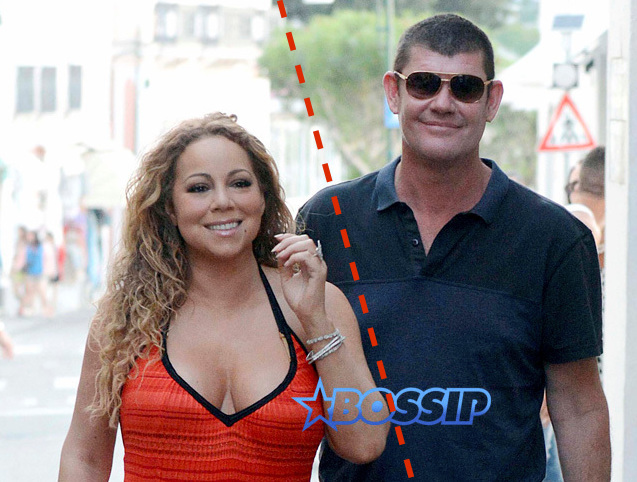 *PREMIUM EXCLUSIVE* **NO WEB, WEB EMBARGO UNTIL 9AM EST ON 06/22/15** **MUST CALL FOR PRICING** Mariah Carey and James Packer flaunt their new romance in Capri! *USA ONLY**
