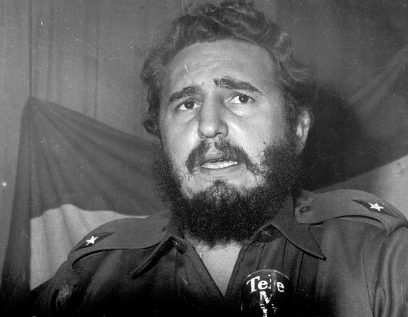 Archive photo of Cuban rebel leader Fidel Castro