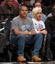 Boston Celtics vs Brooklyn Nets at Barclays Center. record producer Irv Gotti girlfriend, model Ashley Martelle SplashNews
