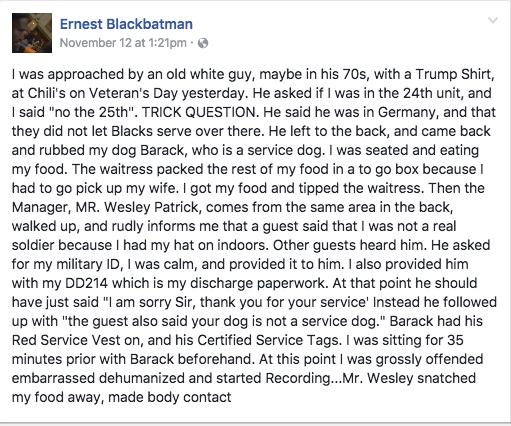 Ernest Walker Facebook