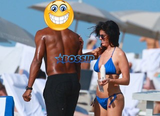 Maxwell afternoon at the beach with a new brunette girl in Miami Beach, FL. H rumored break up earlier this year w/ Lithuanian supermodel Deimante Guobyte. Maxwell, 43, blue bikini clad friend. SplashNews