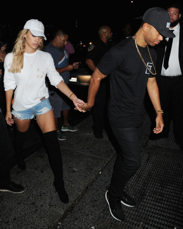 Terrence J and Jasmine Sanders arrive at Up&Down in NYC