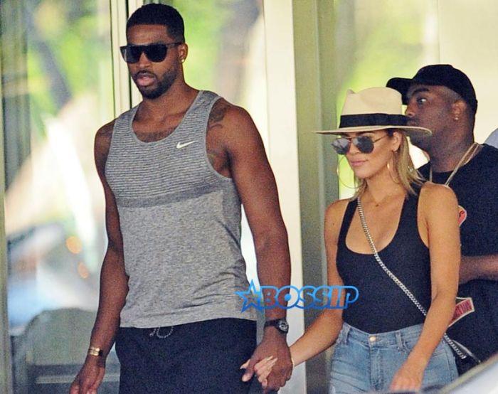 SplashNews Tristan Thompson holds hands with Khloe Kardashian Bal Harbour