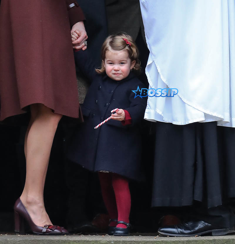 The Duke and Duchess of Cambridge arrive at St Marks Englefield with Prince George and Princess Charlotte. The family were also accompanied by Michael and Carol Middleton, James Middleton, Pippa Middleton and her fiance James Matthews. WENN