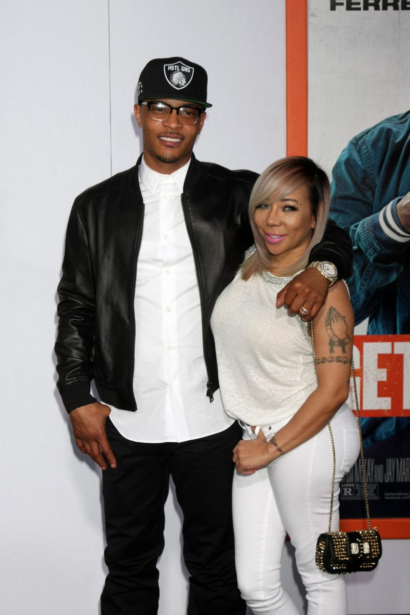 Los Angeles premiere of 'Get Hard' at the TCL Chinese Theatre - Red Carpet Arrivals Featuring: TI, Clifford Harris Jr., Tameka Cottle-Harris, Tiny Where: Los Angeles, California, United States When: 25 Mar 2015 Credit: Nicky Nelson/WENN.com