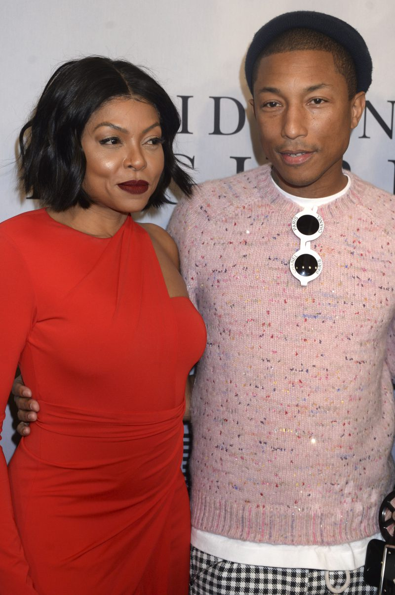 Taraji P. Henson and Pharrell Williams attending a special screening of 'Hidden Figures' at the SVA Theater in New York City. Featuring: Taraji P. Henson, Pharrell Williams Where: New York City, New York, United States When: 10 Dec 2016 Credit: Dennis Van Tine/Future Image/WENN.com **Not available for publication in Germany, Poland, Russia, Hungary, Slovenia, Czech Republic, Serbia, Croatia, Slovakia**