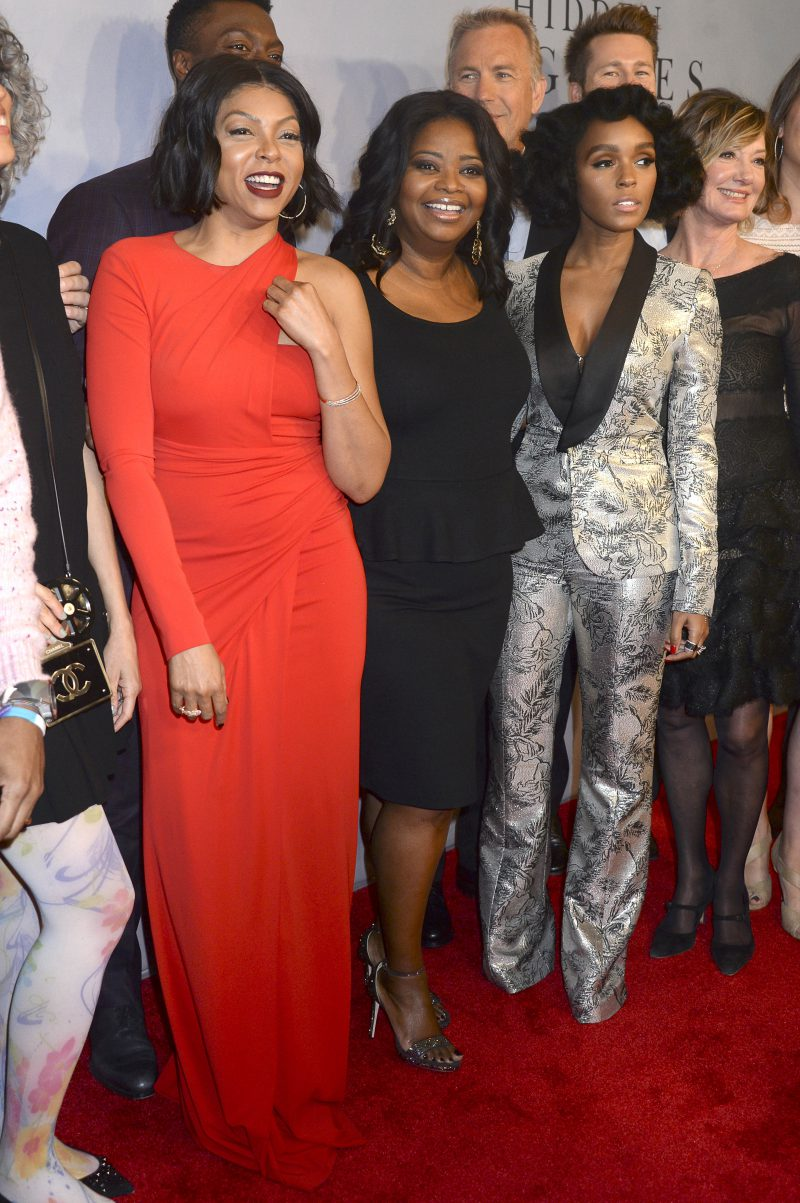 Taraji P. Henson, Octavia Spencer and Janelle Monáe attending a special screening of 'Hidden Figures' at the SVA Theater in New York City. Featuring: Taraji P. Henson, Octavia Spencer, Janelle Monáe, Janelle Monae Where: New York City, New York, United States When: 10 Dec 2016 Credit: Dennis Van Tine/Future Image/WENN.com **Not available for publication in Germany, Poland, Russia, Hungary, Slovenia, Czech Republic, Serbia, Croatia, Slovakia**