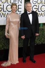Annette Bening Warren Beatty 74th Golden Globe Awards Red Carpet Beverly Hilton Hotel SplashNews