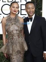 Chrissy Teigen jOhn Legend 74th Golden Globe Awards WENN