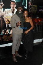 Isaiah Washington Jenisa Garland 'Live By Night' World Premiere held at the TCL Chinese Theatre WENN