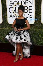Janelle Monae 74th Golden Globe Awards Red Carpet Beverly Hilton Hotel SplashNews