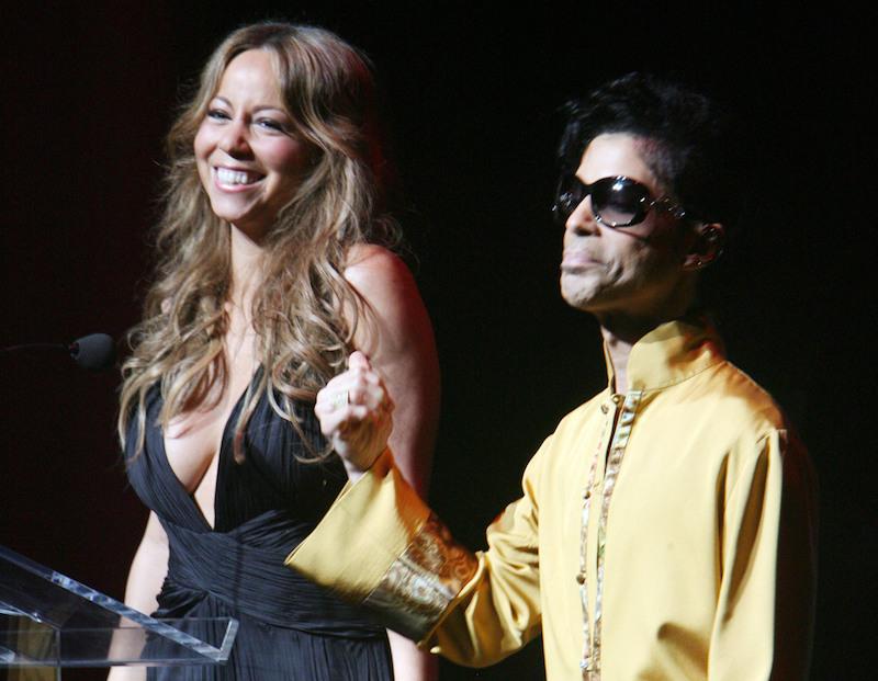 Musician Prince and Mariah Carey