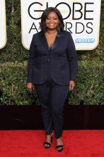 Octavia Spencer 74th Golden Globe Awards Red Carpet Beverly Hilton Hotel SplashNews