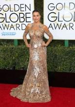 Sofia Vergara 74th Golden Globe Awards Red Carpet Beverly Hilton Hotel SplashNews