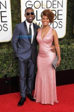 Sterling K Brown Ryan Michelle Bathe 74th Golden Globe Awards Red Carpet Beverly Hilton Hotel SplashNews