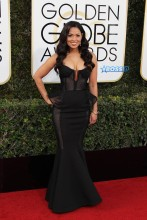 Tracey Edmonds 74th Golden Globe Awards Red Carpet Beverly Hilton Hotel SplashNews