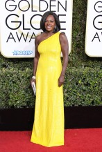 Viola Davis 74th Golden Globe Awards Red Carpet Beverly Hilton Hotel SplashNews