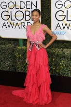 Zoe Saldana 74th Golden Globe Awards Red Carpet Beverly Hilton Hotel SplashNews