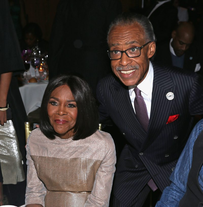 NEW YORK, NY - JANUARY 30: Actress Cicely Tyson (L) and Al Sharpton attend the National CARES Mentoring Movements 2nd Annual 'For the Love of Our Children' Gala at Cipriani 42nd Street on January 30, 2017 in New York City. (Photo by Bennett Raglin/Getty Images for for National CARES Mentoring Movement)