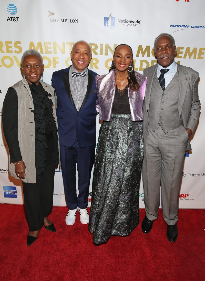 NEW YORK, NY - JANUARY 30: (L-R) Bethann Hardison, Russell Simmons, Susan L. Taylor, and Danny Glover attend the National CARES Mentoring Movements 2nd Annual 'For the Love of Our Children' Gala at Cipriani 42nd Street on January 30, 2017 in New York City. (Photo by Bennett Raglin/Getty Images for National CARES Mentoring Movement)