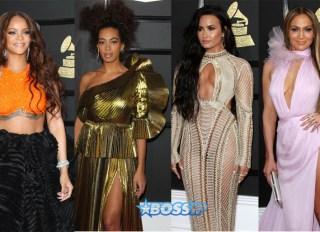 Demi Lovato Rihanna Solange Jennifer Lopez 59th annual Grammy Awards Staples Center Los Angeles SplashNews WENN