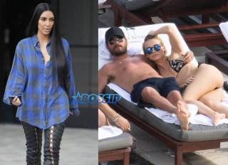 Scott Disick Miami Blonde Kim Kardashian lip ring SplashNews