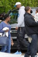 Celebrities Blac Chyna and Lamar Odom attend the 4th birthday party of Amber Rose's son Sebastion in Tarzana, CA SplashNews