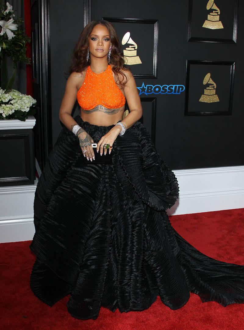Rihanna  59th annual Grammy Awards Staples Center Los Angeles SplashNews