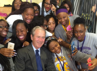 George W. Bush Instagram New Orleans students