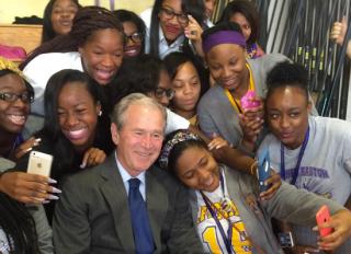 George W. Bush Instagram New Orleans students
