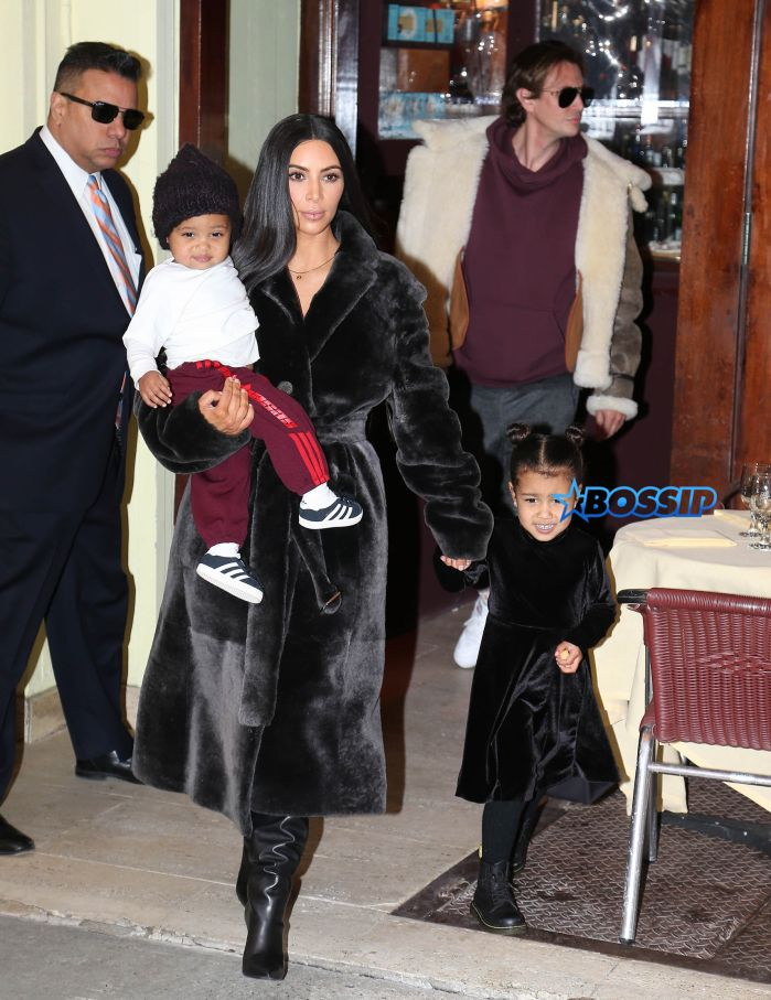 Kim Kardashian with kids Saint and North West leave Cipriani downtown after eating lunch with Jonathan Cheban in New York City. Pictured: kim kardashian, jonathan cheban, north west, saint west Ref: SPL1433120 010217 Picture by: Ryan Turgeon / Splash News Splash News and Pictures Los Angeles:310-821-2666 New York:212-619-2666 London:870-934-2666 photodesk@splashnews.com