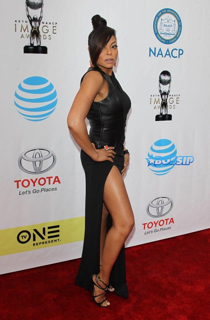 48th NAACP Image Awards - Pasadena Pictured: Taraji P Henson Ref: SPL1440408 110217 Picture by: Jen Lowery / Splash News Splash News and Pictures Los Angeles:310-821-2666 New York:212-619-2666 London:870-934-2666 photodesk@splashnews.com