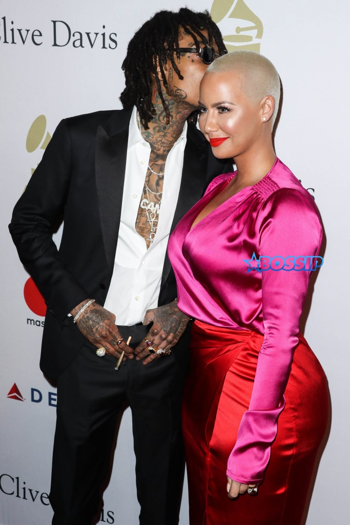 BEVERLY HILLS, LOS ANGELES, CA, USA - FEBRUARY 11: Wiz Khalifa and Amber Rose arrive at the 2017 Pre-GRAMMY Gala and Salute to Industry Icons Honoring Debra Lee held at The Beverly Hilton Hotel on February 11, 2017 in Beverly Hills, Los Angeles, California, United States. (Photo by Xavier Collin/Image Press Agency/Splash News) Pictured: Wiz Khalifa, Amber Rose Ref: SPL1440579 110217 Picture by: Xavier Collin/IPA/Splash News Splash News and Pictures Los Angeles:310-821-2666 New York:212-619-2666 London:870-934-2666 photodesk@splashnews.com