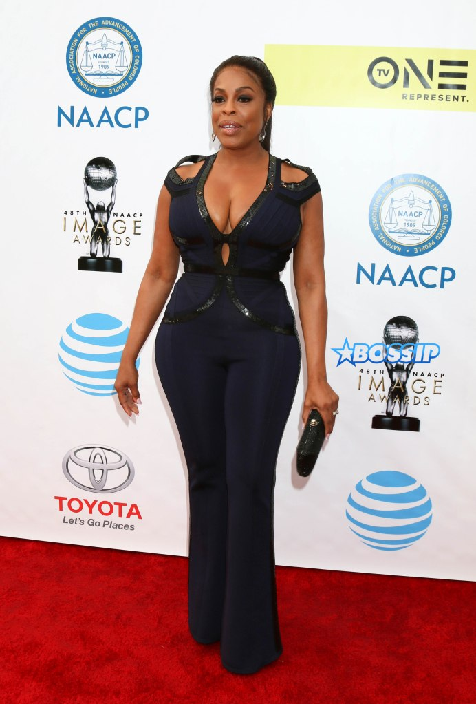 Celebrities arrive at the 48th NAACP Image Awards held at the Pasadena Civic Auditorium in Pasadena, California, USA. Pictured: Niecy Nash Ref: SPL1440666 110217 Picture by: @ParisaMichelle / Splash News Splash News and Pictures Los Angeles:310-821-2666 New York:212-619-2666 London:870-934-2666 photodesk@splashnews.com