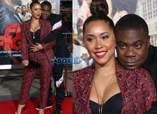 """Tracy Morgan and wife Megan Wollover Premiere Of Warner Bros. Pictures' """"Fist Fight"""" Westwood, California, 14 Feb 2017 WENN"""