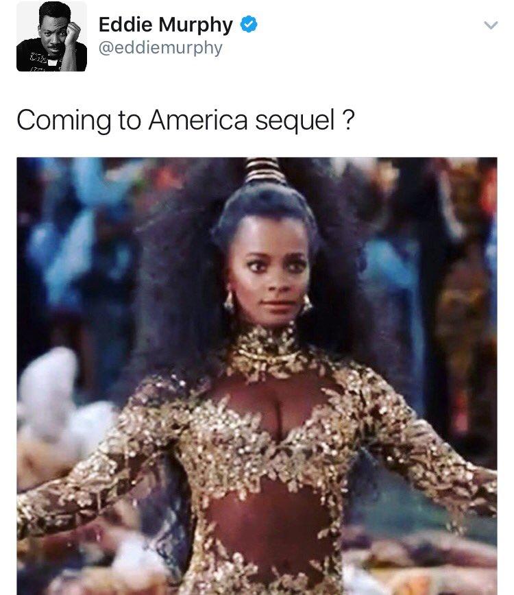 Eddie Murphy Coming To America Tweet