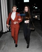 'Human Ken Doll' aka Rodrigo Alves PDA with his girlfriend Catch restaurant for dinner in West Hollywood, CA. SplashNews