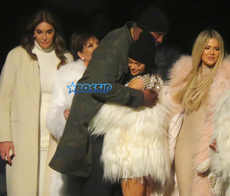 SplashNews Kanye West Yeezy Season Five Lamar Odom Khloe Kardashian Caitlin Jenner Kylie Jenner Kris Jenner