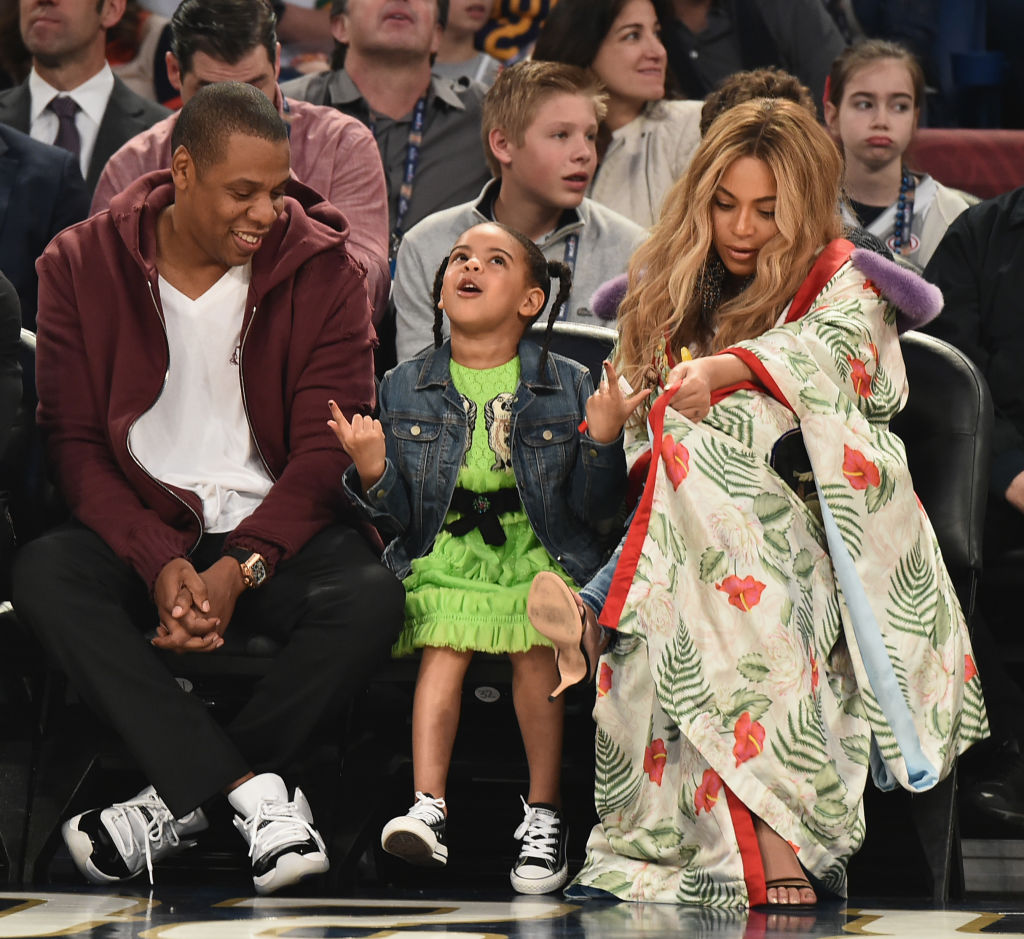 Beyonce Jay Z Blue Ivy All Star Game