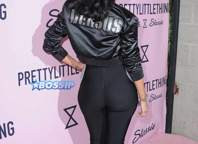 Erica Mena PrettyLittleThing Campaign Launch For PLT SHAPE With Brand Ambassador Anastasia Karanikolaou on April 11, 2017 in Los Angeles, California.  (Photo by Jon Kopaloff/FilmMagic)