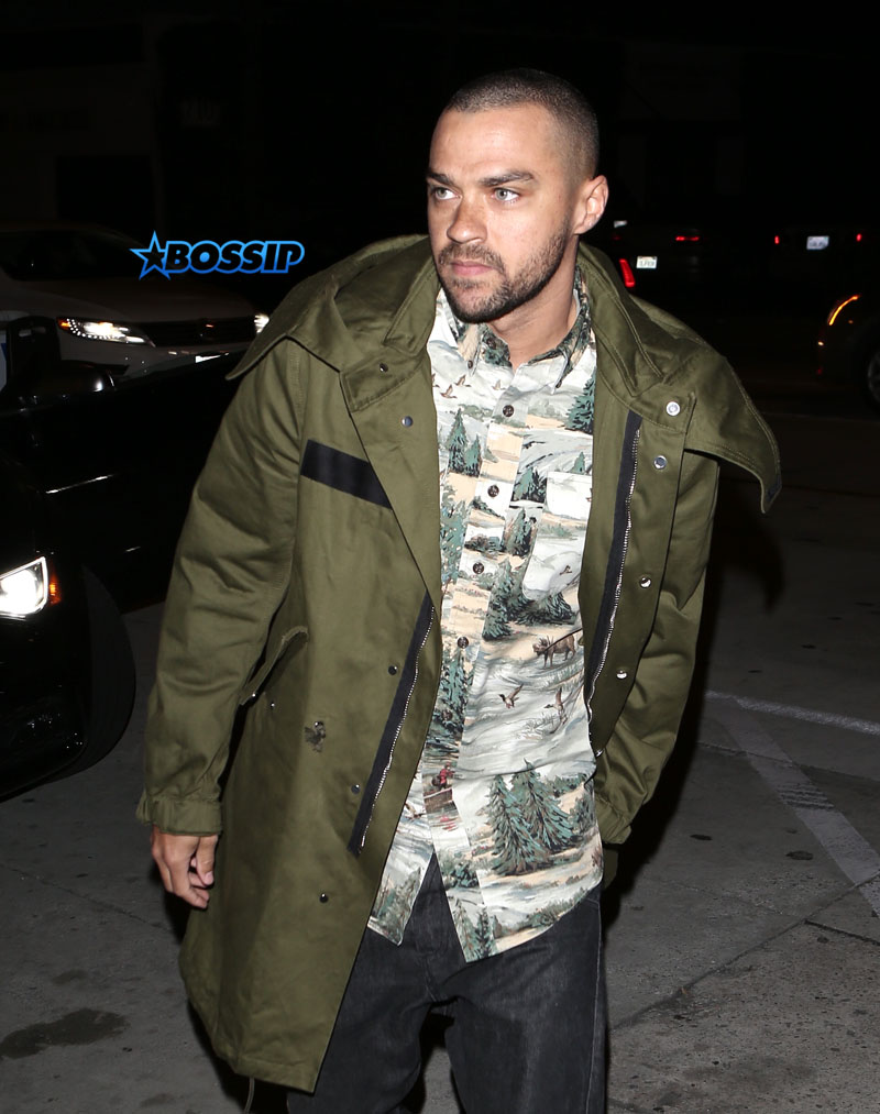 Jesse Williams arrives outside Catch Restaurant in Los Angeles, California; SplashNews