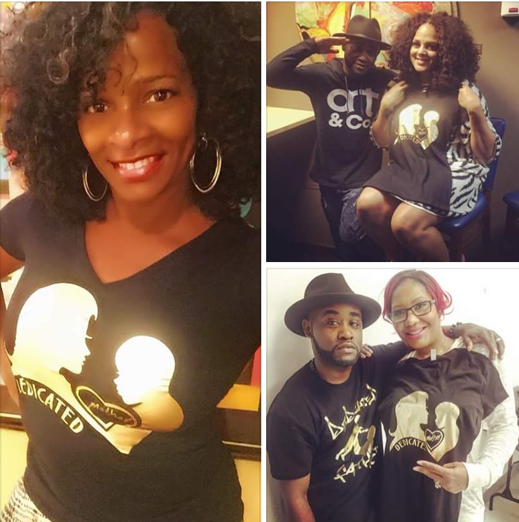 Tray Chaney Dedicated Mother and Dedicated Father tees