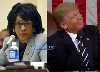 Maxine Waters Donald Trump WENN