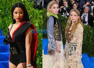 Nicki Minaj Mary Kate Ashley Olsen Twins Met Gala WENN