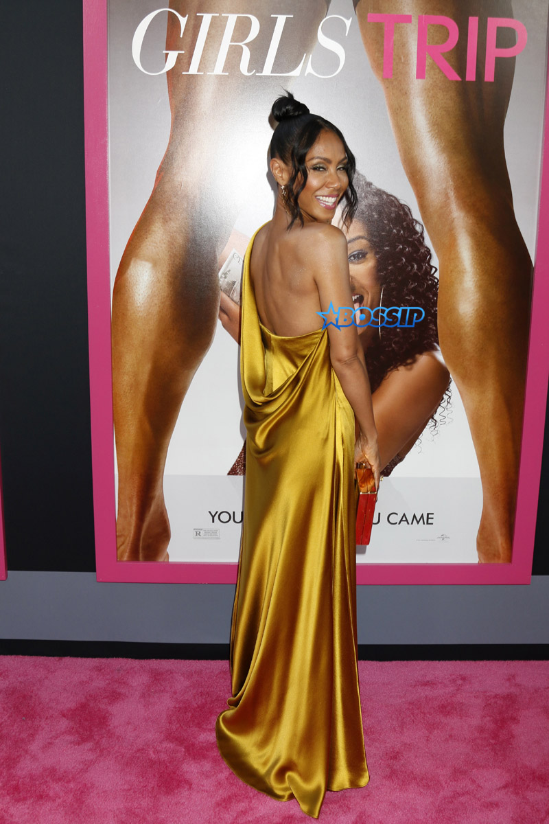 LA premiere of 'Girls Trip' at the Regal LA Live Stadium 14 in Los Angeles, California.  Featuring: Jada Pinkett Smith Where: Los Angeles, California, United States When: 13 Jul 2017 Credit: Nicky Nelson/WENN.com