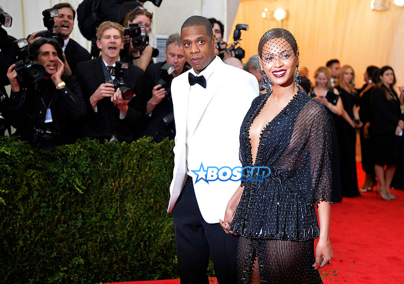 """NEW YORK, NY - MAY 05:  Jay-Z (L) and Beyonce attend the """"Charles James: Beyond Fashion"""" Costume Institute Gala at the Metropolitan Museum of Art on May 5, 2014 in New York City."""