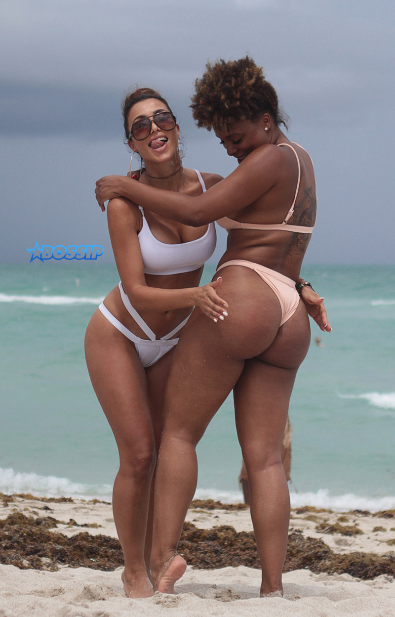 WAGS (Wives and Girlfriends of Sport Stars) E! Entertainment Pictured: Metisha Schaefer and Hencha Voigt Picture by: FAMA PRESS / Splash News