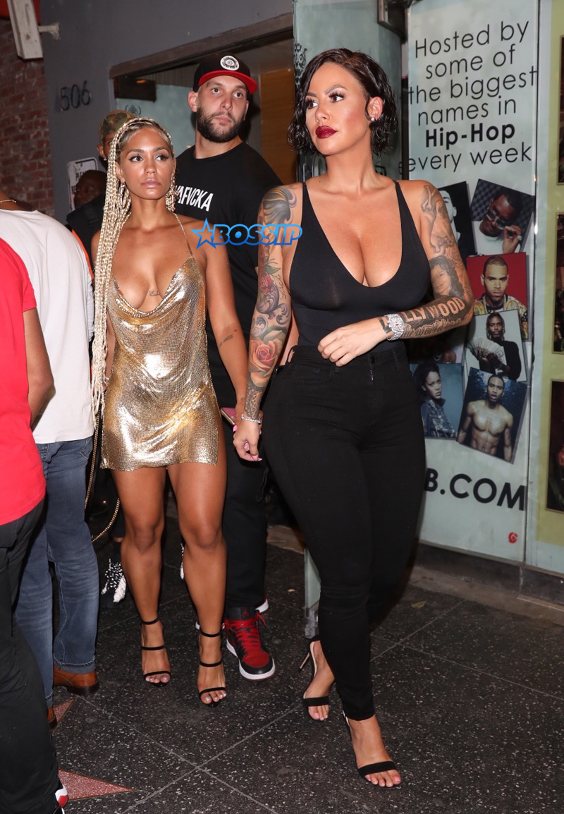 Amber Rose and Paloma Ford seen leaving Playhouse in Hollywood, California, USA.