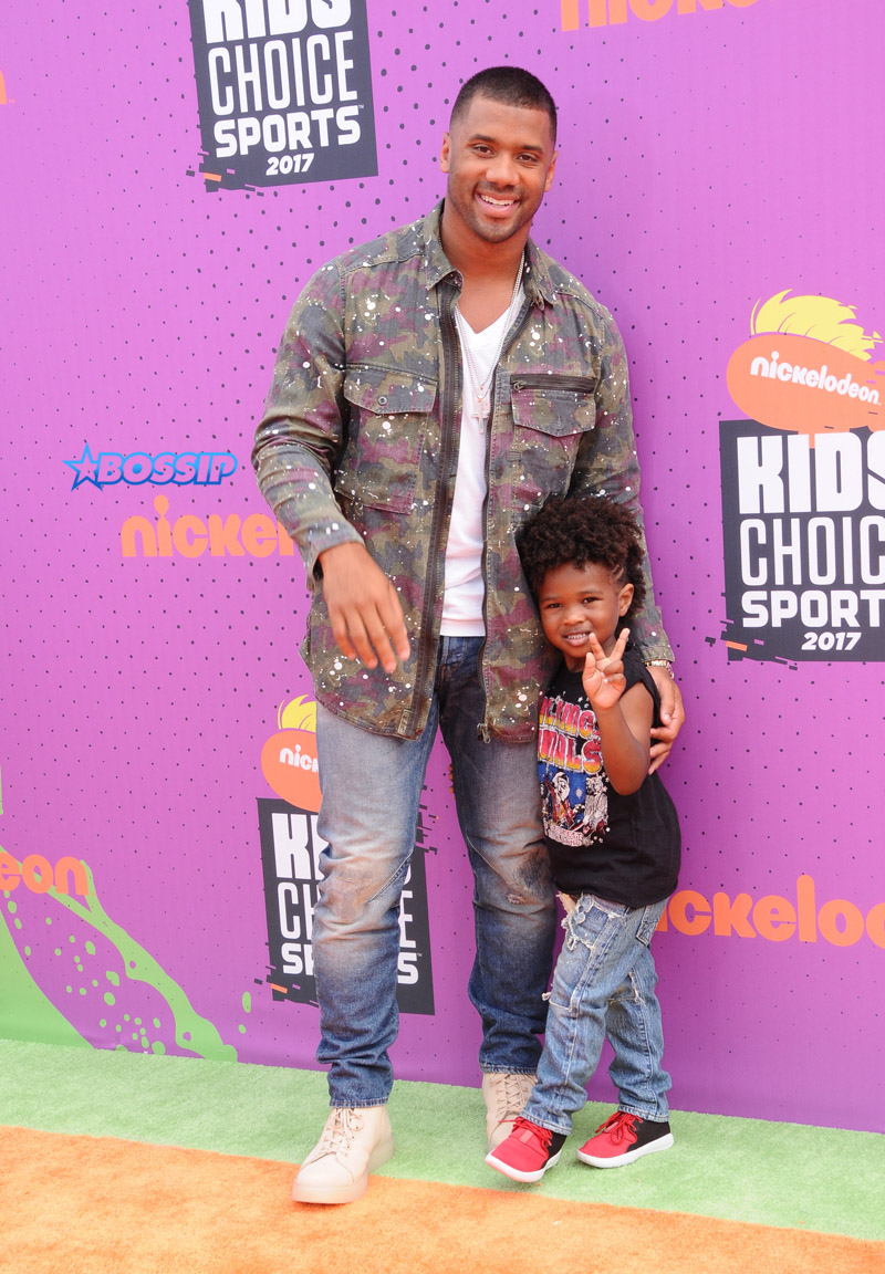Nickelodeon Kids' Choice Sports Awards 2017, held at the Pauley Pavilion in Russell Wilson, Future Zahir Wilburn Picture by: AdMedia / Splash News