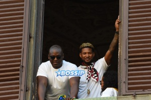 Usher Raymond attends the 2017 Palio di Siena in Siena, Italy. A Fraioli / Splash News